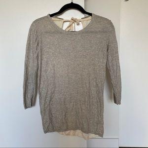 Aritzia Silk/Cashmere Sweater with Open Back